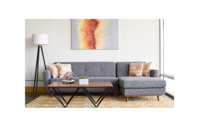 Alba Sectional Sofa Pepper Grey Right Facing