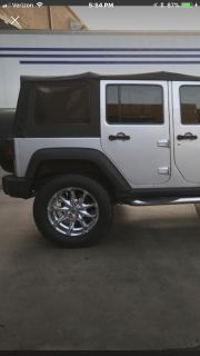 Black soft top from 2012 Jeep Wrangler