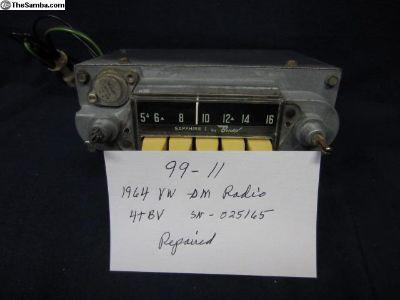 1964 VW AM Radio/Repaired/Sapphire I
