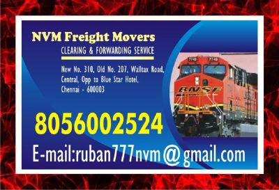 NVM Forwarding agents since 1979  | door step service freight Movers | Chennai
