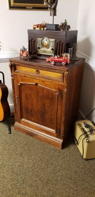 ANTIQUE COUNTRY STORE CABINET WITH CASH DRAWER