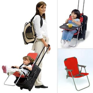 Ride-On Carry-On Child chair attaches to your suit case luggage