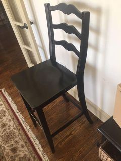 Stool - bar height. Tall back. Ample seat size. Good shape. Smooth lines. Prosper pick up.