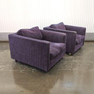 2 Mid Century Modern Baughman style lounge chairs