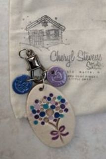 Clay necklace with charms, brand new with original bag