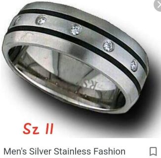 Stainless steel mens ring -sz 11