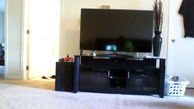 55in Samsung Smart TV with stand and sound bar