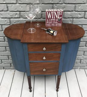 Redesigned Antique Side Table/Mini Bar