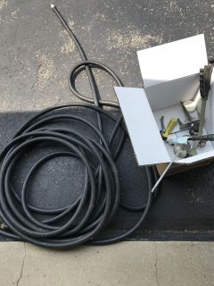 2 hoses and box of spinklers