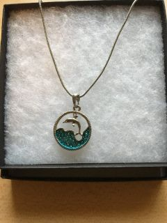 Silver dolphin necklace - 16