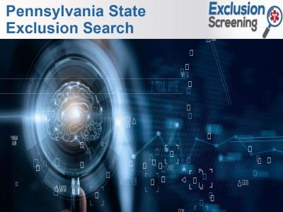 Pennsylvania State Exclusion Search