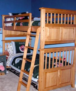 Solid Pine Twin Bunk Bed Set (Dressers, Desk, Hutch also Available)