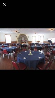 """90"""" Round Navy Tablecloths (15) and 90"""" Round Ivory Tablecloth (1) - Wedding"""