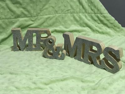 Wooden Mr. & Mrs. for Head Table