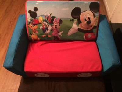 Mickey Mouse couch in great condition smoke pet free home no holes