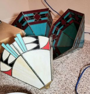 Stained glass lamp shade, price for each