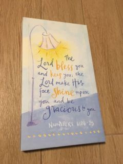 The Lord Bless You And Keep You, The Lord Make His Face Shine Upon You And Be Gracious To You Numbers 6:24-25 14 by 8 Wall Art Hanging