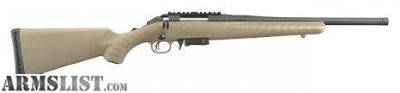 "For Sale: Factory new bolt action Ruger American Ranch 7.62x39 with 16"" threaded barrel"