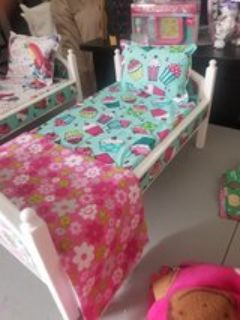cupcake doll bed fits American girl dolls