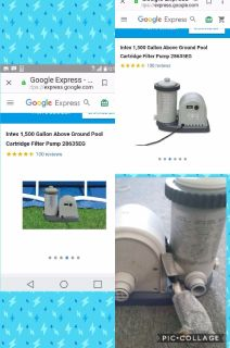 Pump water filter for ground pool