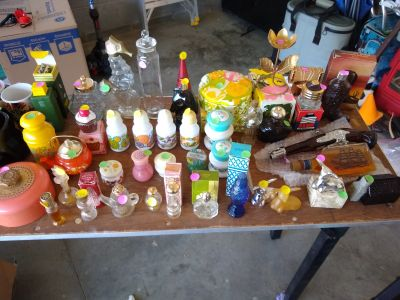 Antique perfume bottles and collectibles