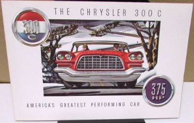 Buy 1957 Chrysler 300 C 375 HP Fire Power V8 Engine Color Sales Brochure motorcycle in Holts Summit, Missouri, United States, for US $79.57
