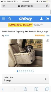 Looking for a dog booster seat something like this for my little pup!