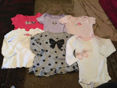 Lot of carters 9m onesies & tops - ppu (near old chemstrand & 29) or PU @ the Marcus Pointe Thrift Store (on W st)