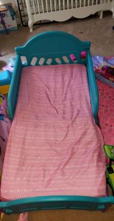 Toddler Bed and mattress with a Doc Mcstuffins Tent