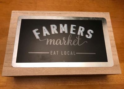 New Wooden Block Sign
