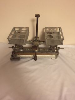 FAIRBANKS MARCH 3, 1896 patent beam balance scale, 200g capacity, nicely nickel plated.