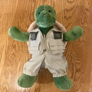 Build a Bear Trekkin Turtle w/ Outfit and Backpack Shell EUC