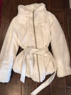Soft winter white dress coat
