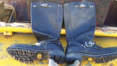 Stallion Custom Boots Alligator Tail and Like New Mens Biker Boots