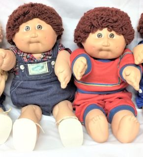 2 Vintage Cabbage Patch Boy Dolls