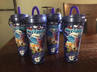 Wet n Wild 2018 drink cups. $10 for all. Cross posted.
