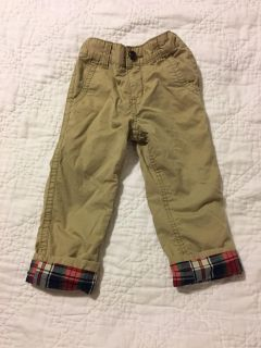 Baby Gap pants plaid lined 3T