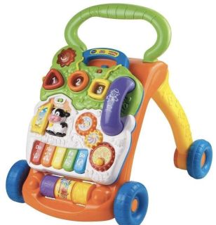 2 VTech Sit-to-Stand Learning Walkers. They are factory packaged in box. Orange/Green and Red/Blue.