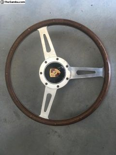 Porsche 356 Wood Steering Wheel