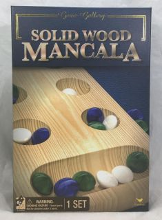 Game Gallery Solid Wood Mancala Brand New Factory Sealed