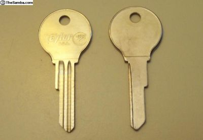 "Key Blanks (2) ""SV"" Beetle 1960-66"