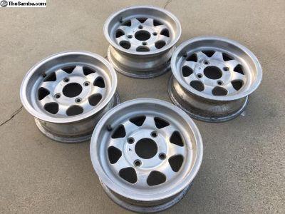 Rims, 14 x 5.5 aluminum, Dan Gurney