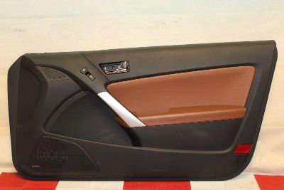 Find 09-12 Genisis Coupe Right Front Interior Door Trim Panel Passenger Black Brown motorcycle in Pensacola, Florida, US, for US $189.99