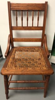 Antique canes seat chair