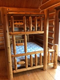 SOLID LOG BUNK BED