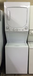 "GE 24"" Stackable Washer and Electric Dryer Unit-220V"