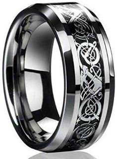 SALE***BRAND NEW***Celtic Dragon Titanium Men's Wedding Band***