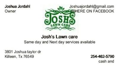 SAME DAY AND NEXT DAY LAWN CARE SERVICE (BELL COUNTY)