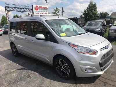 2017 Ford Transit Connect Wagon Titanium 4dr LWB Mini Van w/Re (Gray)