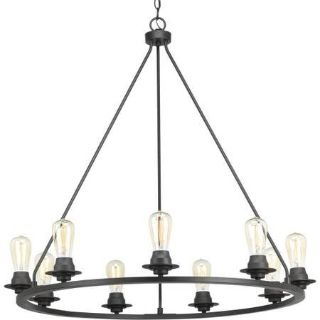 9-light Graphite Chandelier - New!